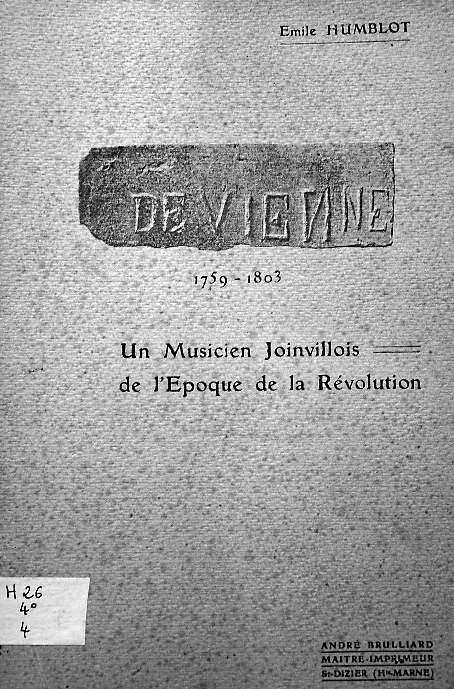 Devienne (Humblot E.) (1)